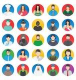 Beroeps en Mensen geplaatste Kleuren Vectorpictogrammen die gemakkelijk kunnen worden gewijzigd of uitgeven stock illustratie
