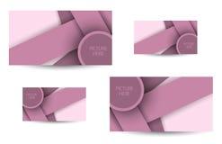 Beroeps en ontwerperadreskaartje Stock Foto