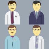 Beroeps Vastgestelde mensen, manageringenieur artsenkapper Stock Afbeeldingen