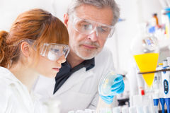 Beroepsbeoefenaars in laboratorium. Royalty-vrije Stock Foto's