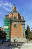 ?berraschende Ansicht von St. Andrew Church in der Stadt von Madrid stockfotografie