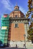 ?berraschende Ansicht von St. Andrew Church in der Stadt von Madrid lizenzfreies stockbild