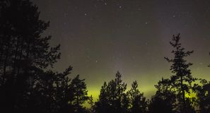 ?berraschende Beschaffenheit von Karelien, Fotos des Sonnenaufgangs und des Sonnenuntergangs, Nordlichter lizenzfreies stockfoto
