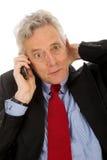 Überrascht per das Telefon Lizenzfreie Stockfotos