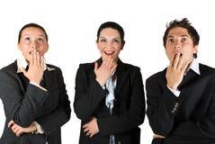 Überraschte Geschäftsleute Stockfotografie