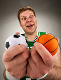 Überraschter Basketball-Spieler Lizenzfreie Stockfotos