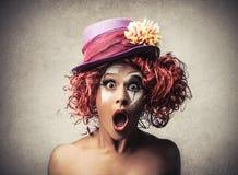 Überraschter Clown Lizenzfreie Stockfotos
