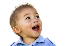 Überraschtes Little Boy (Hispanic) Stockfotos