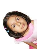 Überraschtes Mädchen getrennt Lizenzfreies Stockbild