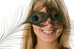 Überraschtes Mädchen mit geöffnetem Mund Lizenzfreies Stockbild