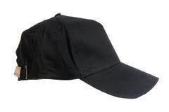 Berretto da baseball nero in bianco Immagine Stock Libera da Diritti