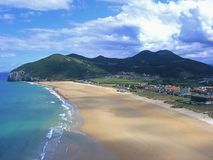 Berria beach in Santoña Stock Images
