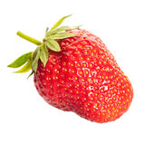 Berrie ripe strawberrie. On white isolated background stock photos