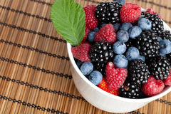 Berries. Some Berries in a bowl Royalty Free Stock Photography