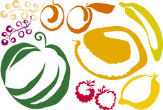Berries. Fruit and berries icon  illustration Royalty Free Stock Photo