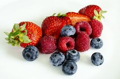 Berries, Berry, Strawberries, Fruit Royalty Free Stock Photos