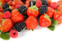 Berries: blackberry, strawberry, raspberry Royalty Free Stock Photography