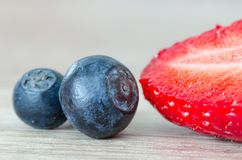 Berries, Blueberries, Blur Stock Photography