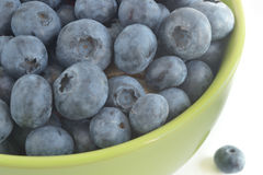The berries of blueberry in a ceramic bowl Royalty Free Stock Photo