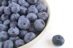 The berries of blueberry in a ceramic bowl Royalty Free Stock Image