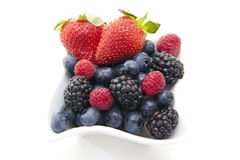 Berries in a bowl Royalty Free Stock Photos