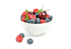 Berries in a bowl Royalty Free Stock Photography