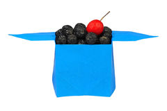 Berries in a box origami Stock Image