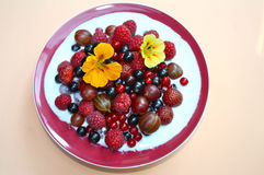 Berries for Breakfast Royalty Free Stock Photos