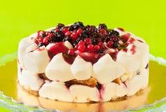 Berries Cake Stock Photography