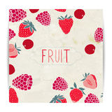 Berries card design. Fruit card design with berries Royalty Free Stock Images
