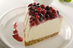 Berries Cheesecake Stock Photo