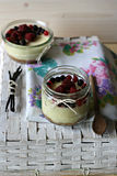 Berries Cheesecake Stock Photos