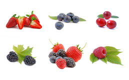 Berries collection - fruit Stock Photo