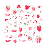 Berries collection, sketch for your design Royalty Free Stock Images