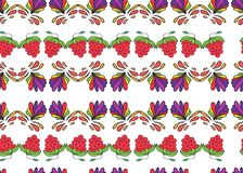Berries and colorful patterns curls Royalty Free Stock Photos