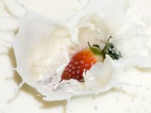 Berries and Cream Stock Photos