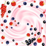 Berries cream Stock Photo