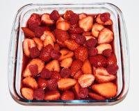 berries cream summer 图库摄影
