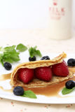 Berries Crepe Royalty Free Stock Photography