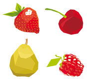 Berries the cubism drawn in style, a. Berries the cubism drawn in style, isolated on a white background + a vector illustration