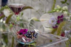 Berries. Dessert set up with fresh berries Stock Photos
