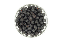 Berries dried cherries in a glass bowl Royalty Free Stock Image