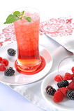 Berries drink. In white background royalty free stock photo