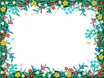 Berries and flowers - framed floral background Royalty Free Stock Photo