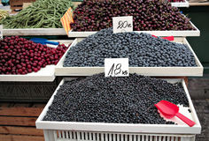Berries on the food market. Royalty Free Stock Image