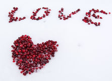 berries in the form of heart Royalty Free Stock Images