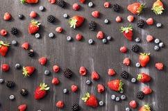 Berries frame Stock Image