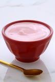 Berries french style yogurt Stock Photo