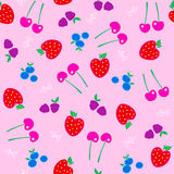 Berries Fruit Seamless Repeat Pattern Vector Stock Photo