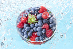 Berries Fruit Water Drops Spray Stock Photography